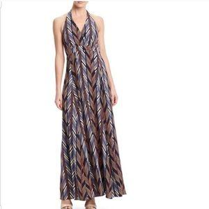 Jessica Simpson Printed Halter Maxi Dress